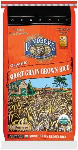 Lundberg 有机无麸质短粒糙米11.3公斤装 60.26元限量特卖并包邮!