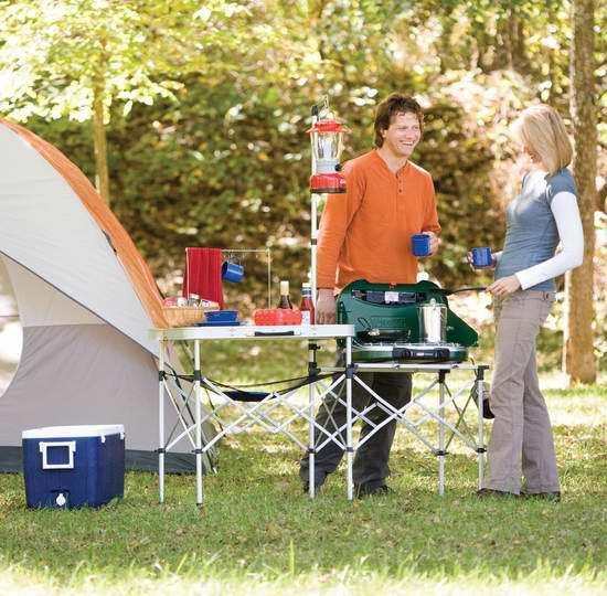 Coleman 科勒曼 Pack-Away 可折叠野营厨房 99.99加元包邮!