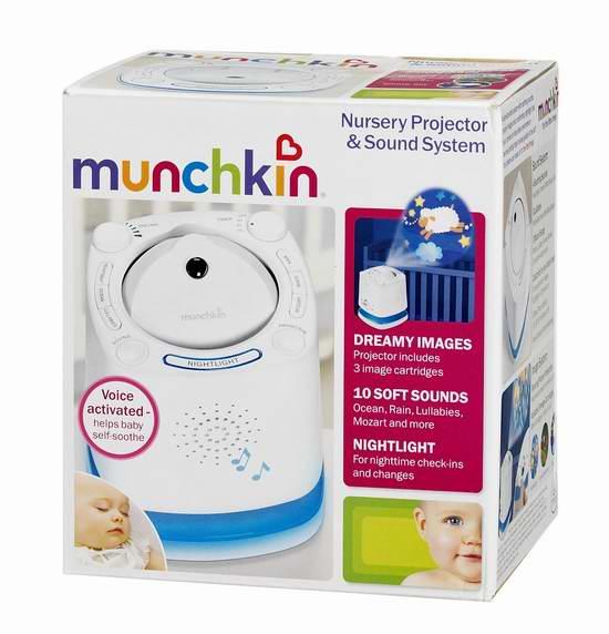 Munchkin 14900 宝宝助眠音乐投影机 28.04元限时特卖!