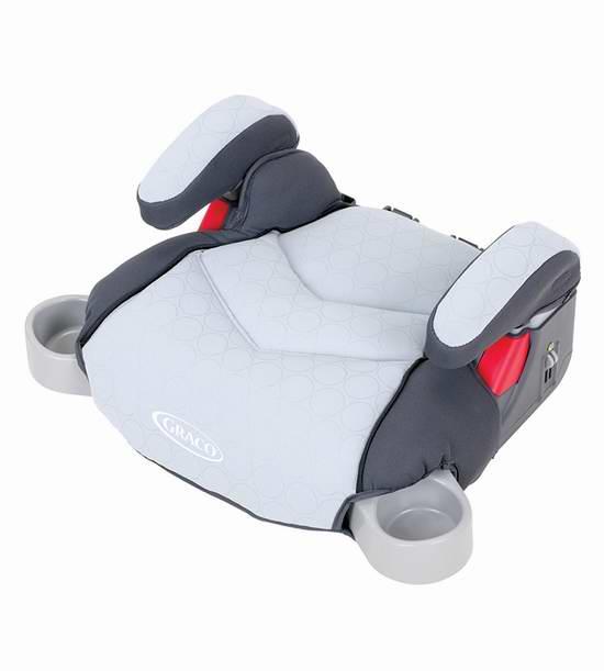 历史最低价!Graco 葛莱 No-Back Turbo 儿童增高无靠背汽车安全座椅5折 23.97元限时特卖!两色可选!