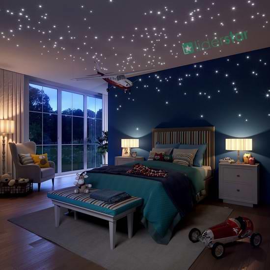 LIDERSTAR 夜光星星贴片504件套 15.3元限量特卖!