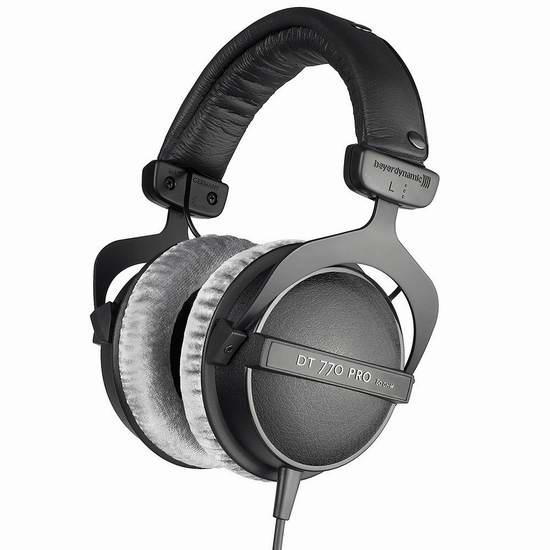 近史低价!Beyerdynamic 拜亚动力 DT 770 PRO 80 Ohms 头戴式耳机 174.99加元包邮!