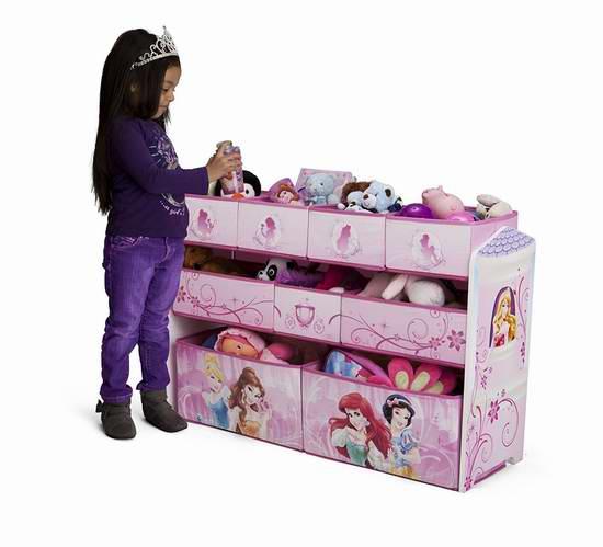 历史新低!Delta Children 迪士尼公主 豪华儿童玩具收纳架 53.99元限时特卖并包邮!