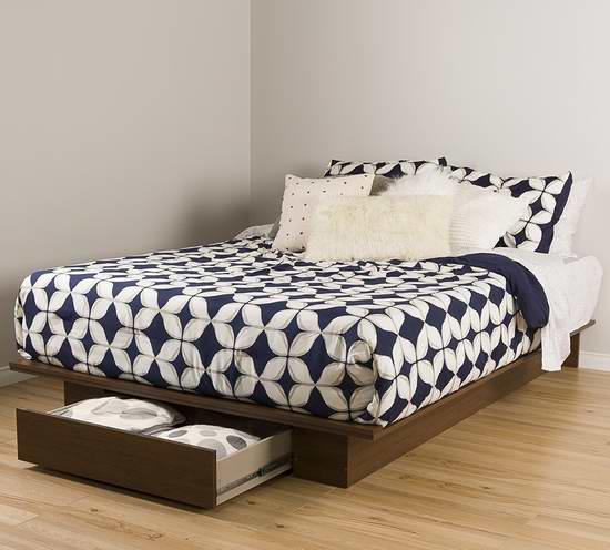 历史新低!South Shore Furniture Full/Queen 带抽屉床架 169.99元限时特卖并包邮!
