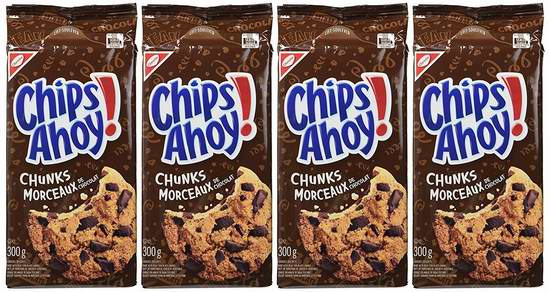 Chips Ahoy! 趣多多 Chunks 巧克力味曲奇饼干(4x300克) 8.92元限量特卖!