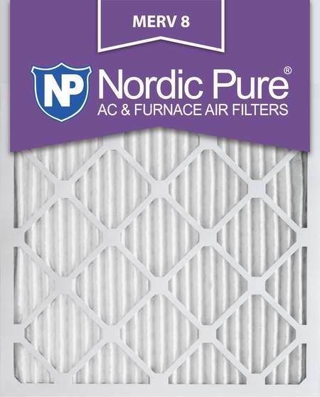 Nordic Pure 16x25x1M8-12 MERV 8 防过敏空调暖气炉过滤网(16x25x1英寸 12件套)6.1折 78.27元限量特卖并包邮!