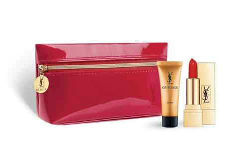 Yves Saint Laurent YSL 圣罗兰 农历新年促销,全场购满75元送价值62元迷你Rouge Pur Couture 13号色方管口红+3ml藏金奢妍面霜+独家手拿包!