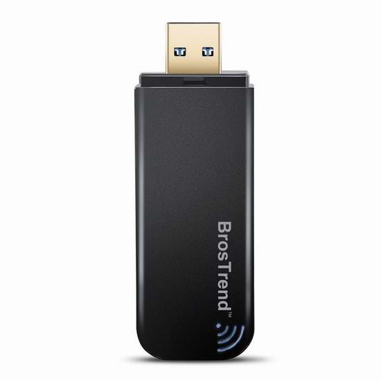 BrosTrend AC1 1200Mbps 双频无线网卡 20.99元限量特卖!