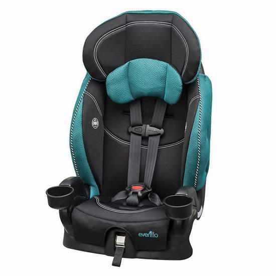 历史新低!Evenflo Chase Lx 加高汽车安全座椅 92.99元限时特卖并包邮!