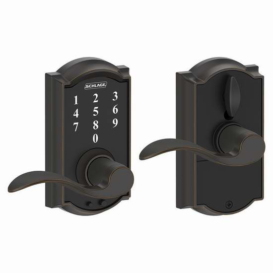 历史新低!Schlage FE695 CAM 716 ACC 触控式电子密码门锁 105.62加元限量特卖并包邮!