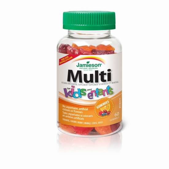 Jamieson 健美生 水果味 儿童复合维生素软糖60粒 5.21加元限时特卖!
