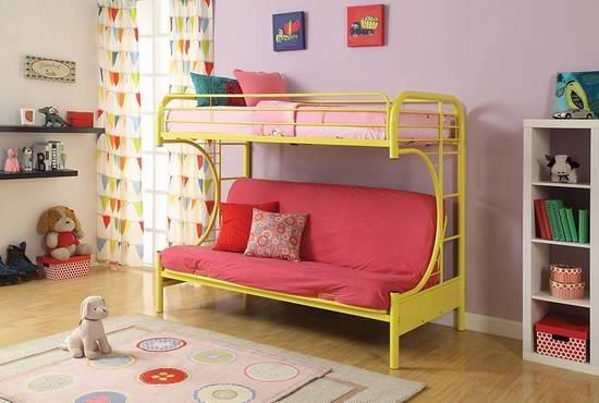 历史新低!ACME Furniture 02091 Eclipse Twin/Full 多功能双层床/沙发床5.4折 219-241.75元限时特卖并包邮!6色可选!