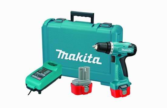 历史新低!Makita 牧田 9.6伏无绳紧凑型Drill/Driver电钻+双锂电套装3.1折 60.03元限时特卖并包邮!