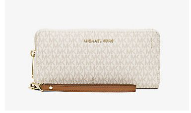 Michael Kors Jet Set 女士时尚真皮钱包/腕包/手拿包5.2折 93.45元限时特卖并包邮!