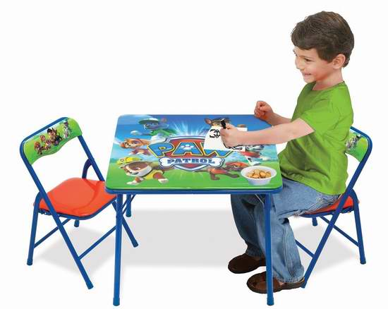历史新低!Paw Patrol 狗狗巡逻队 Nickelodeon 87676 儿童桌椅套装5.7折 49.97元限时特卖并包邮!