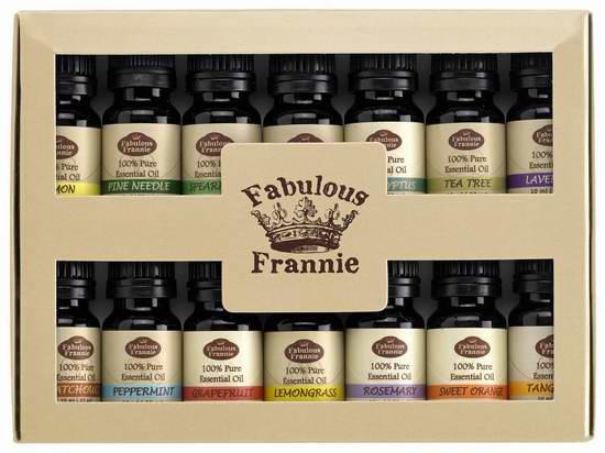 Fabulous Frannie 天然香薰精油14瓶装 42.45加元限量特卖并包邮!