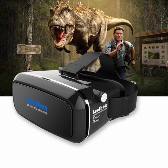 Leelbox 3D VR 头戴式虚拟现实眼镜 22.39元限量特卖并包邮!