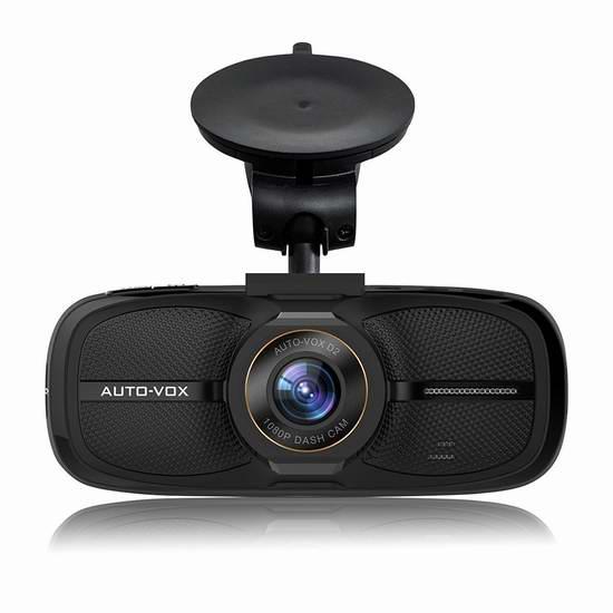 AUTO-VOX D2 2.7英寸1080P全高清行车记录仪 49加元限量特卖并包邮!