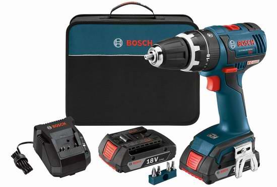 售价大降!历史新低!Bosch 博世 HDS182-02 18伏紧凑型无刷冲击钻+双电套装3.2折 144.88元限时特卖并包邮!