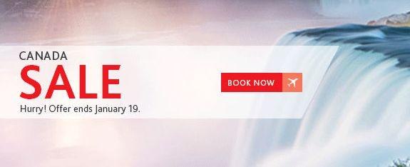 Air Canada 加航 限时特卖!加拿大境内航线机票特价销售!
