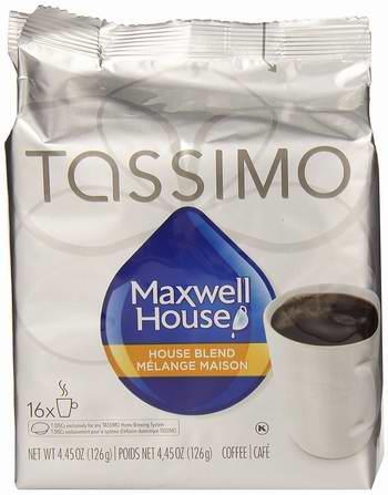 Maxwell House Tassimo 咖啡胶囊14-16个装 5.97元限时特卖!