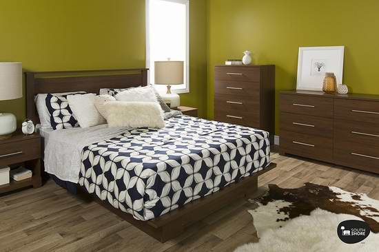 精选5款 South Shore Primo 系列床架、储物柜、梳妆柜、床头柜等家具特价销售!