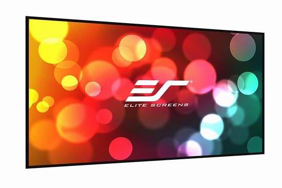 售价大降!历史新低!Elite Screens Insta-DE 系列 IWB102HW 102英寸 可干擦 超大投影屏幕2.5折 113.37元限时清仓并包邮!