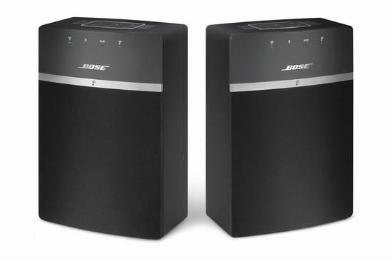 历史新低!Bose SoundTouch 10 无线(蓝牙+WiFi)音箱两件套 379元限时特卖并包邮!