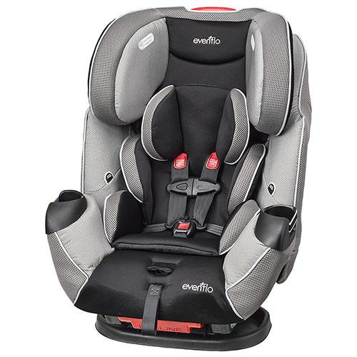 历史最低价!Evenflo Symphony LX 三合一成长型儿童汽车安全座椅6.2折 199.99元限时特卖并包邮!