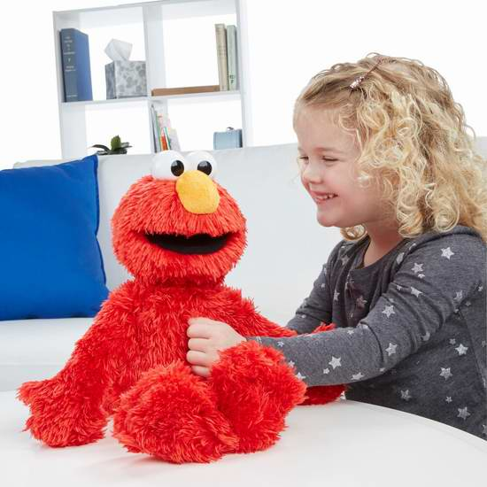 历史新低!Sesame Street 芝麻街 Love2Learn Elmo 智能艾摩毛绒玩偶3.7折 29.94加元限时清仓!