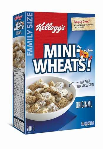 历史最低价!Kellogg's Mini-Wheats 早餐速食营养麦片700克家庭装 4.47加元限时特卖!