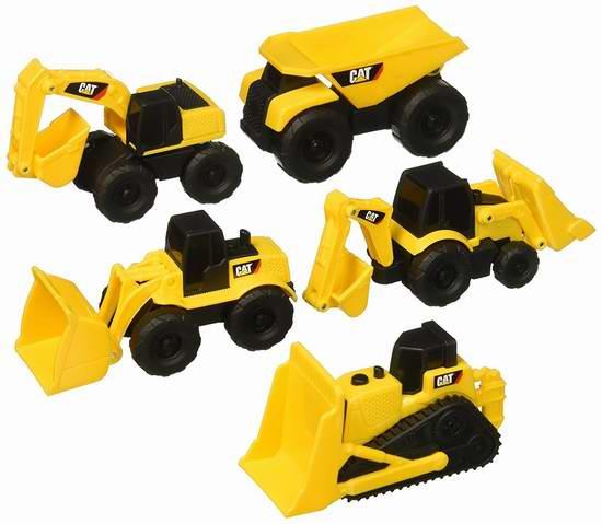 售价大降!历史新低!Toy State Caterpillar Construction 迷你工程玩具车5件套3.8折 5加元限时特卖!