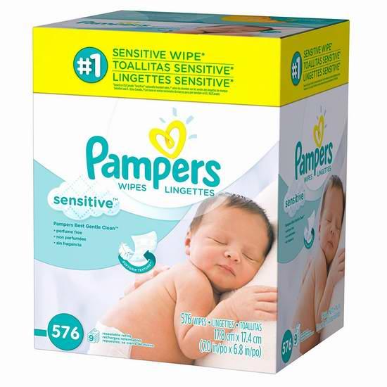 Pampers 帮宝适 敏感 婴幼儿湿巾纸(576抽) 14.04加元限时特卖!