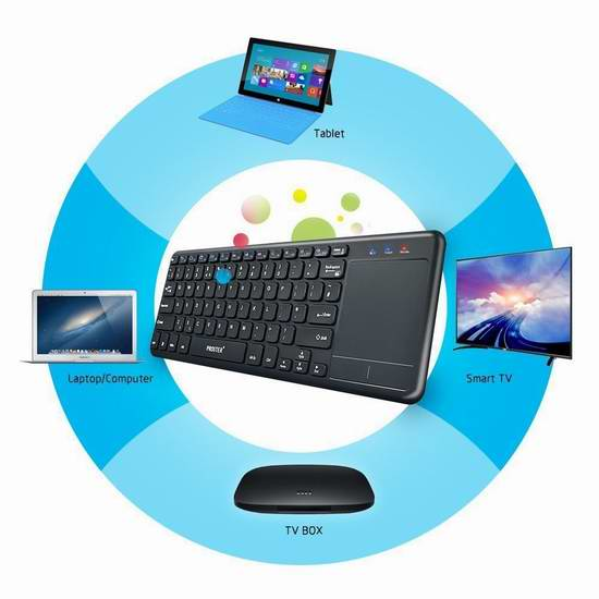 Proster 2.4G 超薄无线键盘+触摸板 24.64加元限量特卖并包邮!