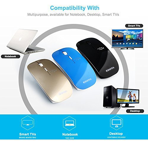 Edota MS-D1 2.4 GHz 便携式无线光学鼠标 10.15加元限量特卖!三色可选!