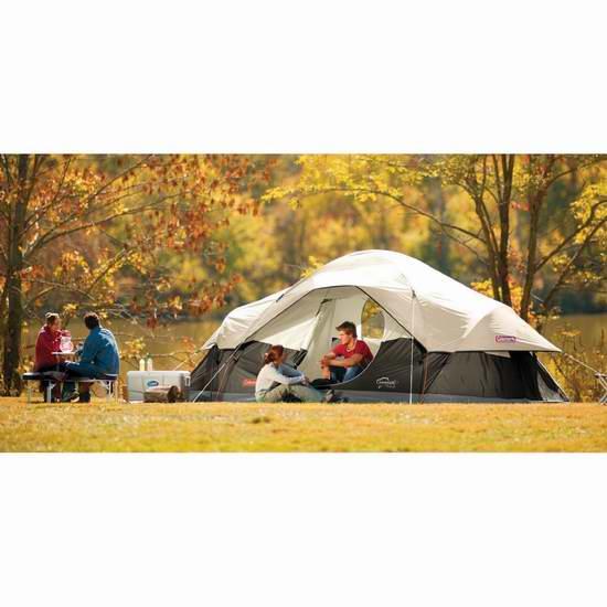 历史新低!Coleman Red Canyon 超大8人家庭野营帐篷 139.16加元限时特卖并包邮!