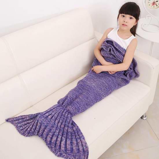保暖神器!KALRI 羊毛混纺 儿童美人鱼睡袋 18.24元限量特卖!两色可选!