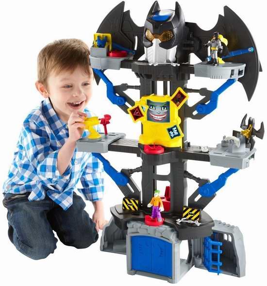历史新低!Fisher-Price 费雪 Imaginext DC 超人大战蝙蝠侠 变形蝙蝠洞玩具套装4.5折 35加元限时特卖并包邮!
