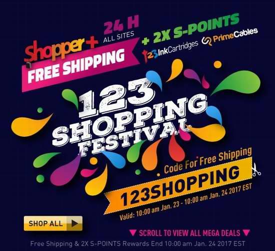 123inkcartridges 精选多款打印机、电子产品、办公用品、文具耗材等商品0.1加元起限时特卖!全场24小时限时包邮!