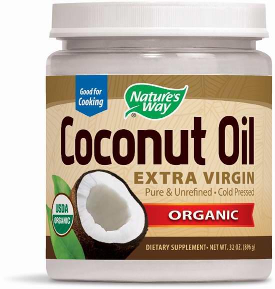 Nature's Way 特级初榨有机椰子油(32盎司、896克)5.3折 22.48元限时特卖!