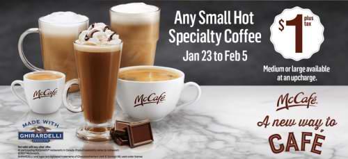 McDonald's 麦当劳 1月23日-2月5日小杯咖啡仅售1元!