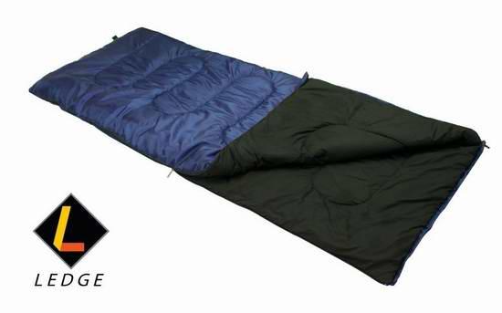 历史新低!Ledge Sports Ridge 零下1度经典矩形睡袋5.1折 25.59加元限时特卖!