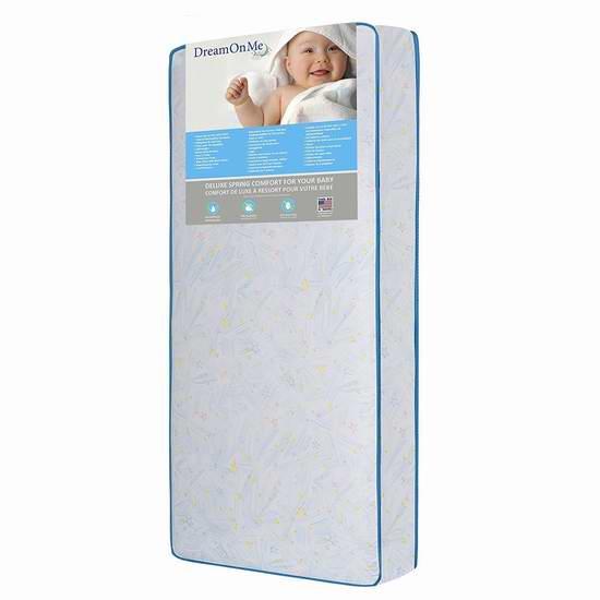 售价大降!历史新低!Dream On Me Crib/Toddler 婴幼儿/儿童 弹簧床垫5.4折 88.52加元限时特卖并包邮!