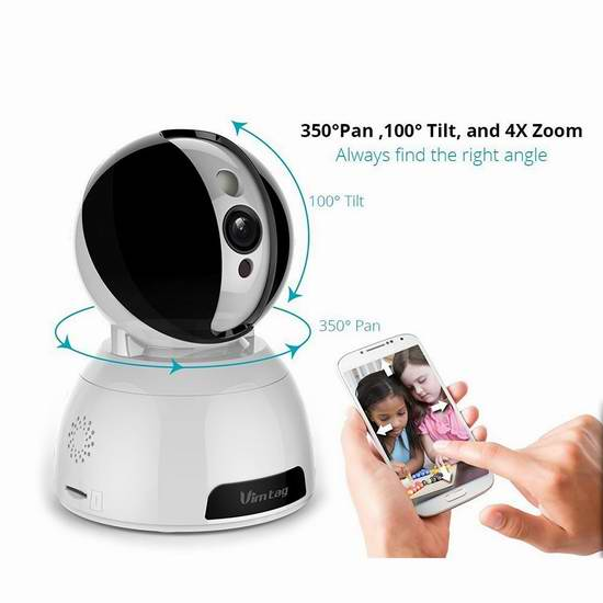 Vimtag Snowman CP1 高清智能WiFi云监控摄像头 74.99加元限量特卖并包邮!