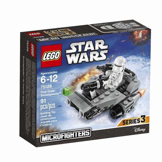 Lego 乐高 75126 星球大战系列 雪地飞车积木套装(91pcs)6.2折 8加元限时特卖!