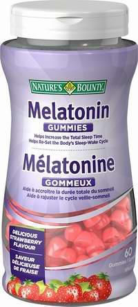 历史最低价!Nature's Bounty 自然之宝 Melatonin 褪黑素软糖(草莓味)60粒装 4.18加元!