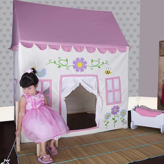 历史新低!Pacific Play Tents 我的秘密花园 儿童过家家粉色游戏屋3.8折 137.22加元限时特卖并包邮!