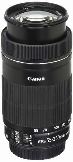历史最低价!Canon 佳能 EF-S 55-250mm F/4-5.6 IS STM 远摄变焦镜头5折 199加元限时特卖并包邮!