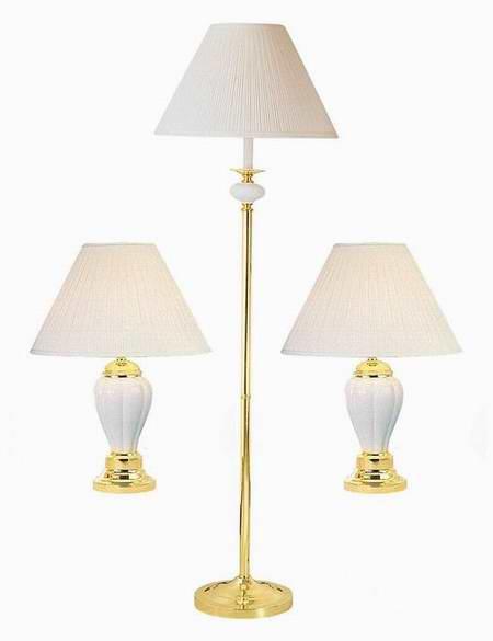 历史新低!ORE International K-4101IV-31 象牙白陶瓷落地灯+台灯三件套4.7折 79.97加元限时特卖并包邮!