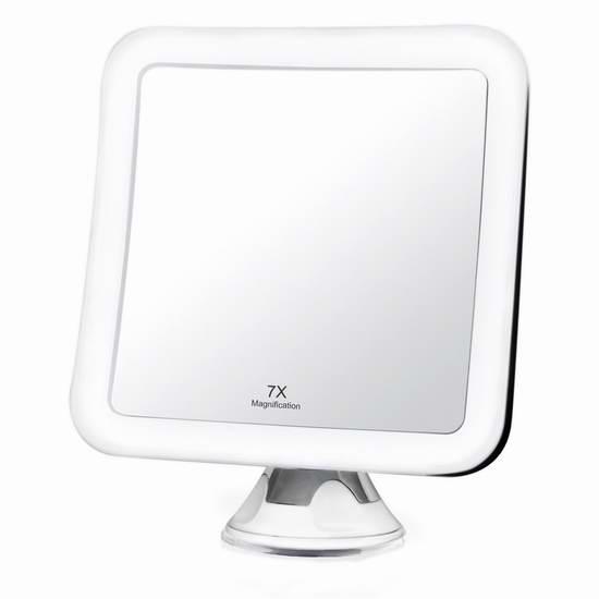 Fancii 7倍放大360度旋转LED照明化妆镜 25.99加元限量特卖!